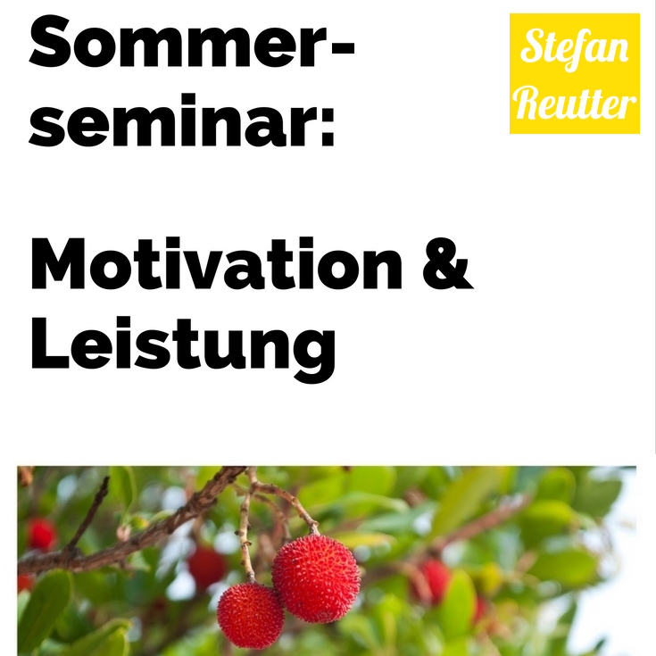 Stefan Reutter - Moderator, Trainer – Seminar Sommer, Motivation & Leistung