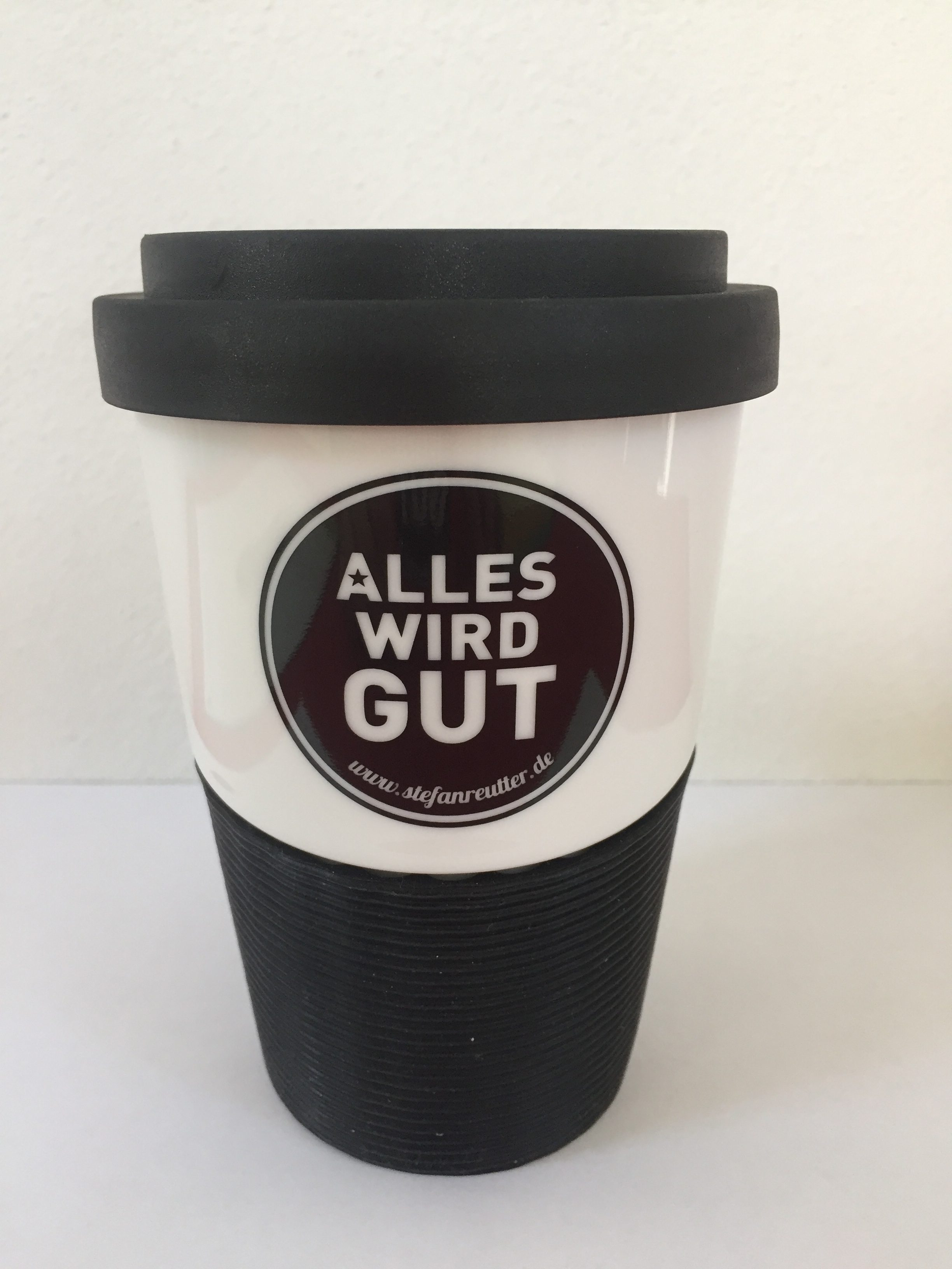 Coffee to go, Becher, Stefan Reutter, Alles wird gut